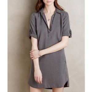 Anthropologie cloth and stone shirt dress SMALL